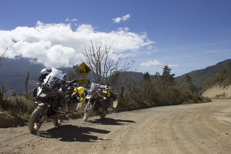 Bikes and the Volcano on Dirt_1