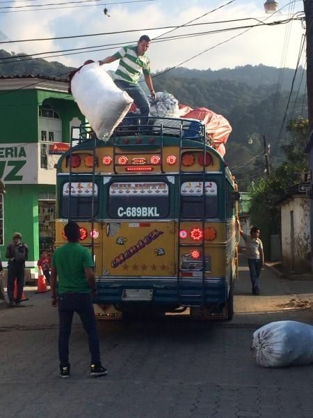 Chicken Bus Offload