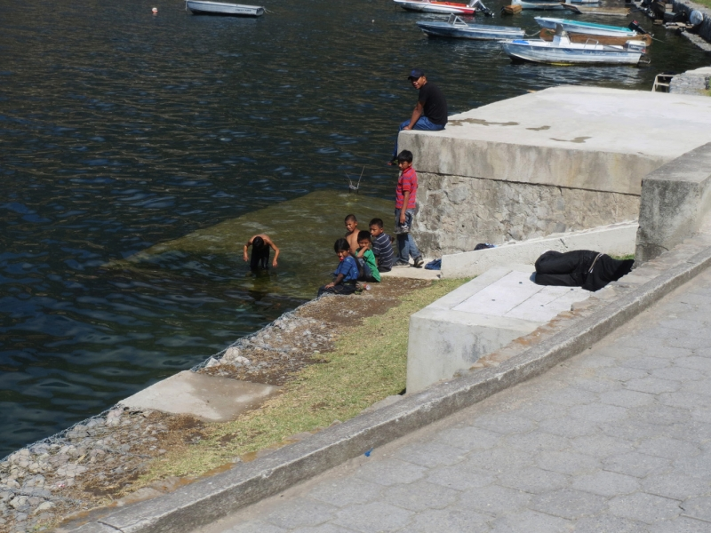 Kids Bathing in the Lake_1