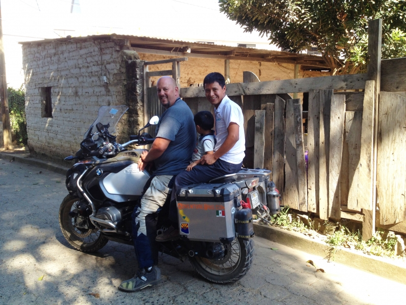 Terry and Pedro on Bike
