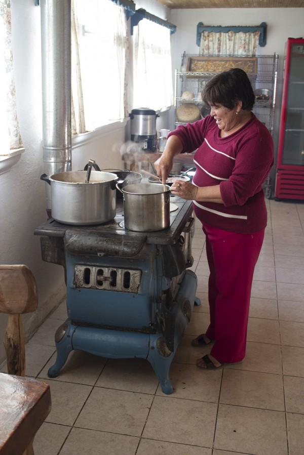 Abuleta at the stove in Creel