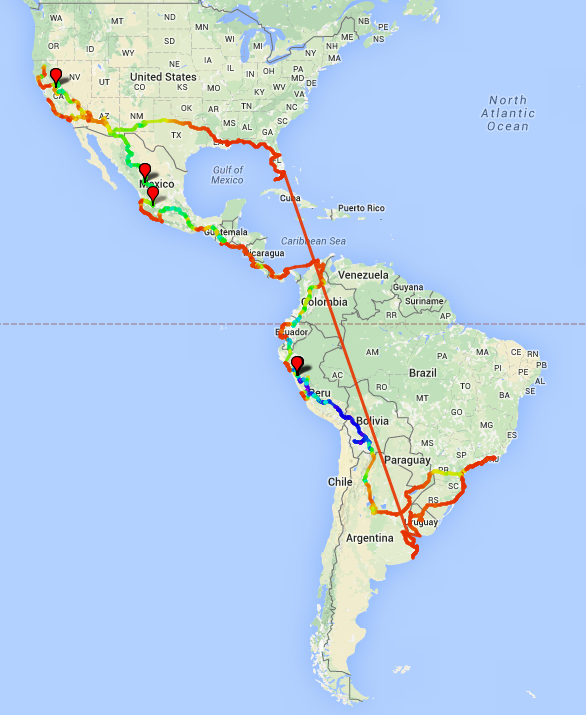 Total route map no terrain